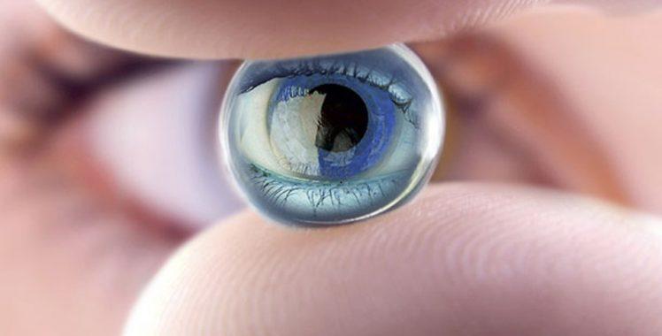 A limpeza das lentes de contato